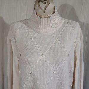 Liz Clairborne White Sweater
